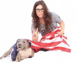 Rebecca Corry and her pibble, Angel