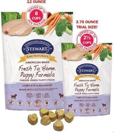 Stewart Raw Naturals Freeze Dried Food Now For Puppies Fido Friendly