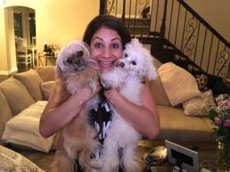 Larissa Wohl and her dogs