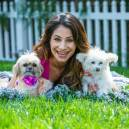 Larissa Wohl with two dogs