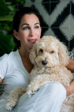 Deborah DiMare and her dog