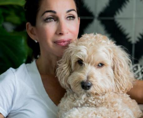 Deborah DiMare with her dog