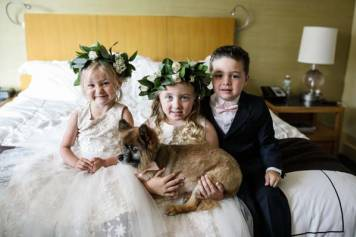 Fido joins the wedding party